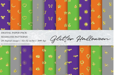 Glitter Halloween Digital Papers