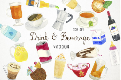 Drinks Clipart, Beverage Clipart, Drinks Illustration, Beverage Illust