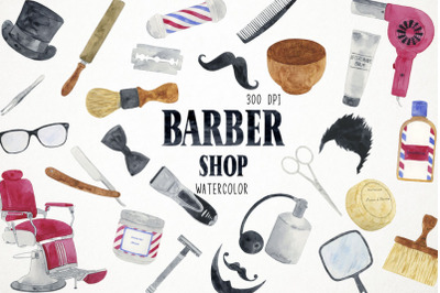 Barber Shop Clipart, Barber Shop Illustration, Hairdresser Clipart