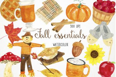 Watercolor Fall Clipart, Fall Illustration, Autumn Clipart, Autumn Ill