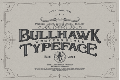 Bullhawk Layered Font + Extra