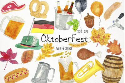 Watercolor Oktoberfest Clipart Oktoberfest Illustration
