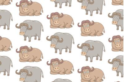 Set of Buffalos and Pattern