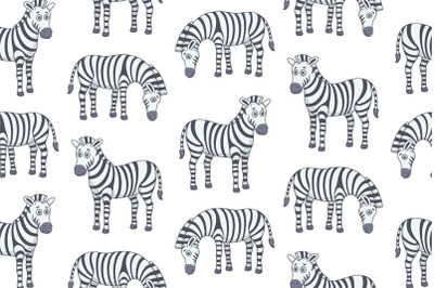 Set of Zebras and Pattern