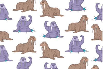 Set of Walruses and Pattern