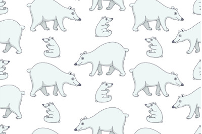 Set of Polar Bears and Pattern