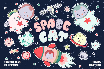 Space Cat - cute characters