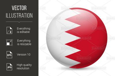 Round glossy icon of Bahrain