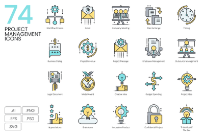 74 Project Management Icons