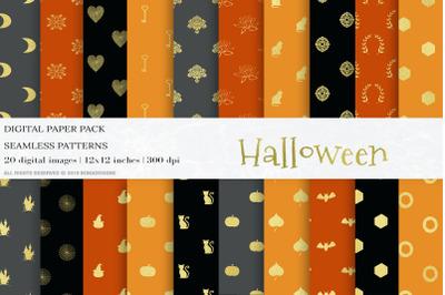 Gold Halloween Digital Papers
