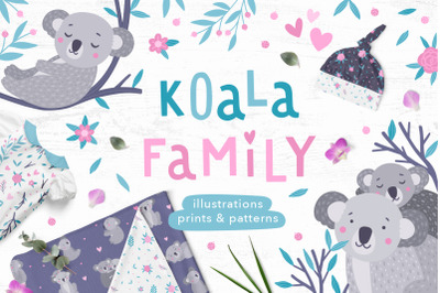 Koala Family Illustrations