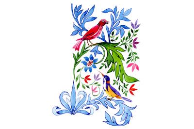 "Floral pattern ""Tenderness"" watercolor png"