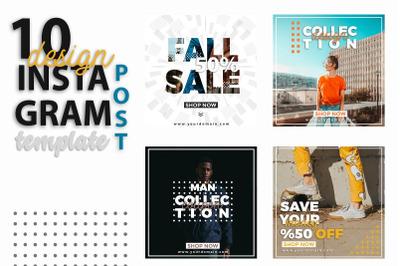 Instagram Post Templates - Fashion & Sale & Shop