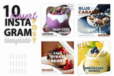 Instagram Post Templates - Dessert & Food & Recipe