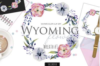 Wyoming flowers. Wreath #1
