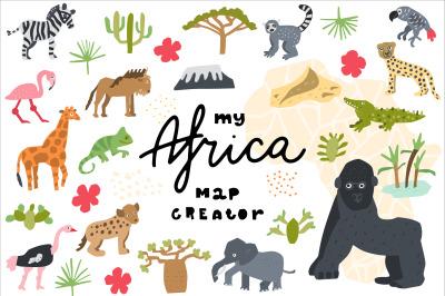 My Africa Animals Clipart