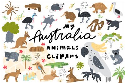 My Australia Animals Clipart