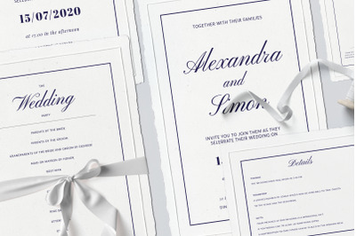 Wedding Template Suite, An Invitation Pack Classic