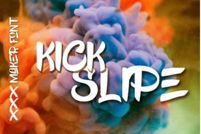 Kick Slipe Font