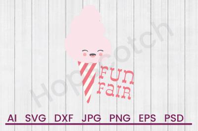 Fun Fair Cotton Candy - SVG File, DXF File