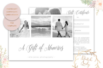 PSD Photo Gift Card Template #3
