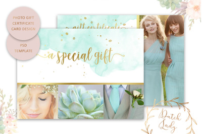 PSD Photo Gift Card Template #4