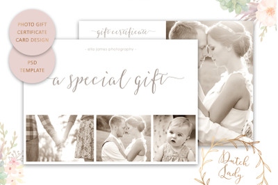 PSD Photo Gift Card Template #8