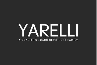 Yarelli Sans Serif Font Family