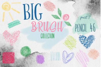 Pencil BRUSH collection for PS Photoshop ABR