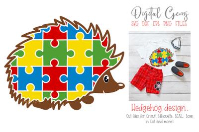 Hedgehog Jigsaw / Autism design