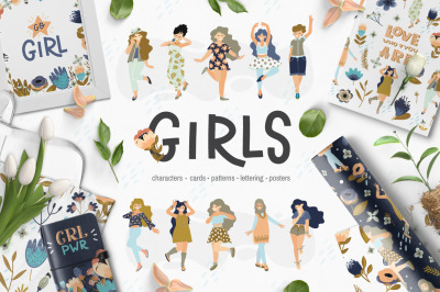 Girls - vector big collection