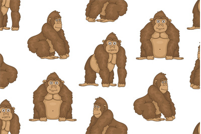 Set of Gorillas and Pattern