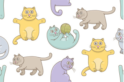 Set of Cats and Pattern