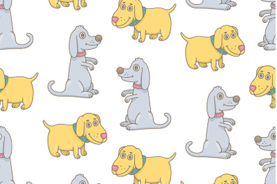 Set of Dogs and Pattern