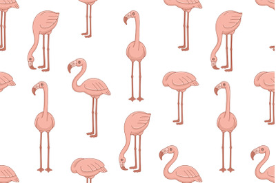 Set of Flamingos and Pattern
