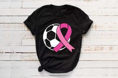 Soccer Tackle Breast Cancer Svg Awareness ribbon svg Sayings 1457S