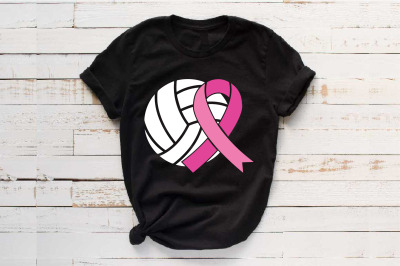 Volleyball Tackle Breast Cancer Svg Awareness ribbon svg Volley 1455S