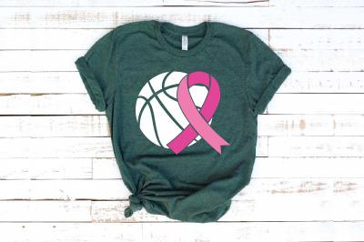 Basketball Tackle Breast Cancer Svg Awareness ribbon svg ribbon 1454S
