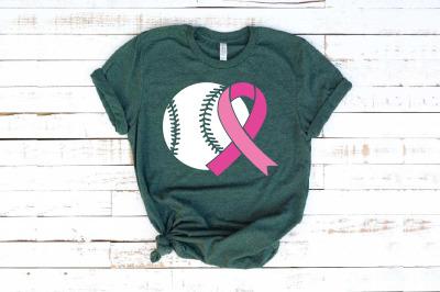 Baseball  Tackle Breast Cancer Svg Awareness ribbon svg Sayings 1452S