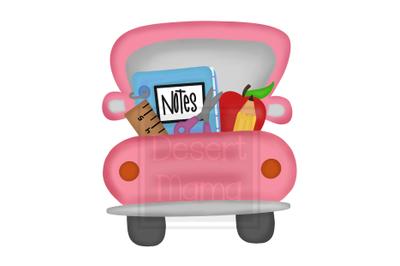 Back To School Truck Pink PNG, Sublimation design, digital download, g