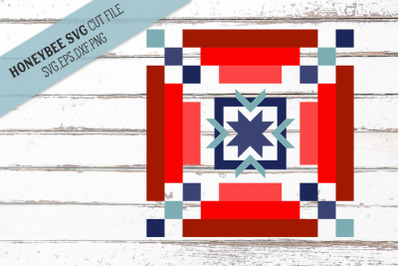 Americana Strippy Barn Quilt SVG Cut File