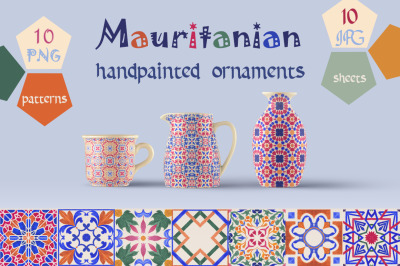 Mauritanian Ornaments Hand Painted