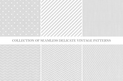 Vintage seamless delicate patterns