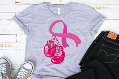 Winner Boxing Gloves Hanging On Breast Cancer Be Strong kick ass 1463S