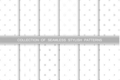 Cute seamless minimalistic patterns