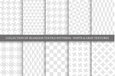 Geometric seamless textile patterns