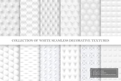 Seamless white smooth textures