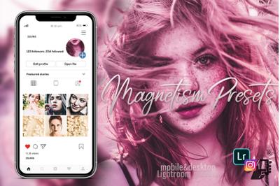 5 Magnetism lightroom presets mobile dng