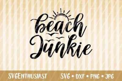 Beach junkie SVG cut file