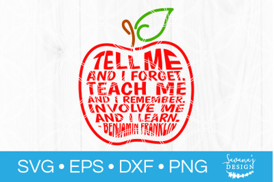 Teacher Apple Quote SVG